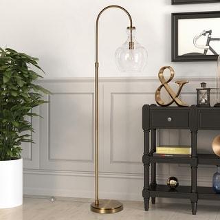 Link to Carson Carrington Hogom Arc Brass Floor Lamp Similar Items in Floor Lamps
