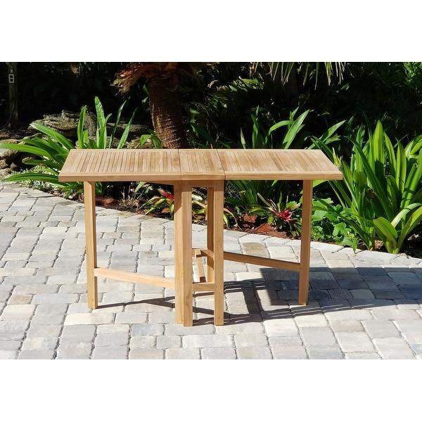 Shop Zenvida Teak Dining Table Folding 51 Free Shipping Today