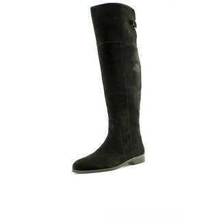 Charles By Charles David Reed Women Round Toe Suede Black Over the Knee Boot