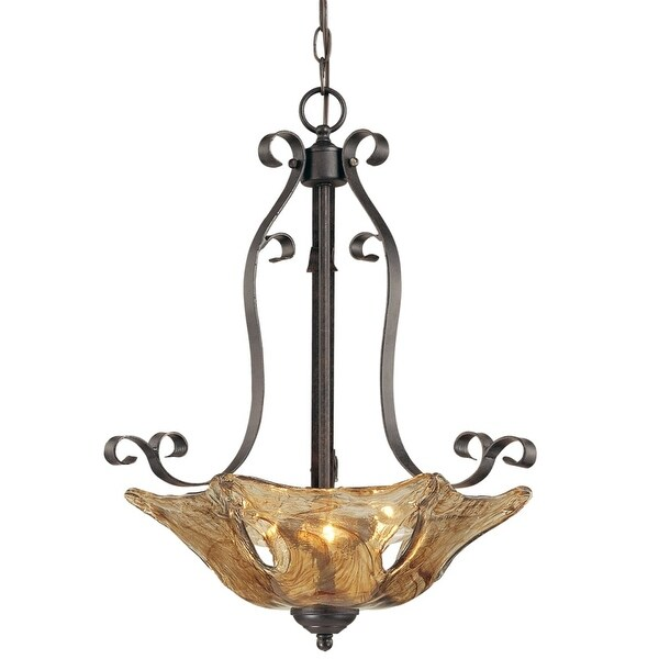 Millennium Lighting 7143 Chatsworth 3-Light Pendant - Burnished Gold