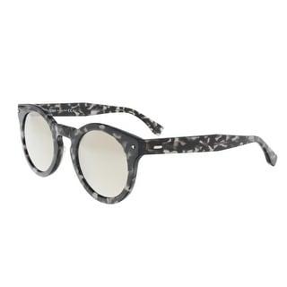 Fendi FF 0214/S 0WR7 Black Havana Round Sunglasses - black havana - 48-24-145