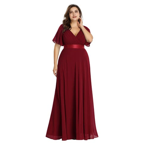 68e26752d63c Ever-Pretty Womens Plus Size Chiffon Long Mother of the Bride Evening Party  Dress 98902