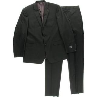 Ike Behar Mens Wool Double Vent Two-Button Suit - 46L