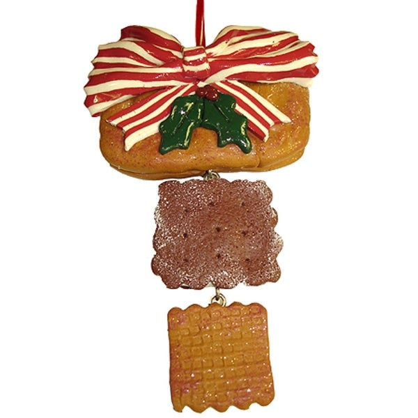 """6"""" Dangling Holly Berry Cookie Christmas Ornament"""