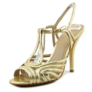 Joan & David Damimo Women Open Toe Leather Gold Sandals