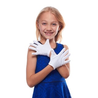Drum Major Childrens White Cotton Gloves