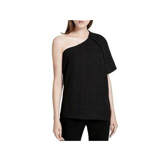 Calvin Klein Womens Blouse One Shoulder Textured