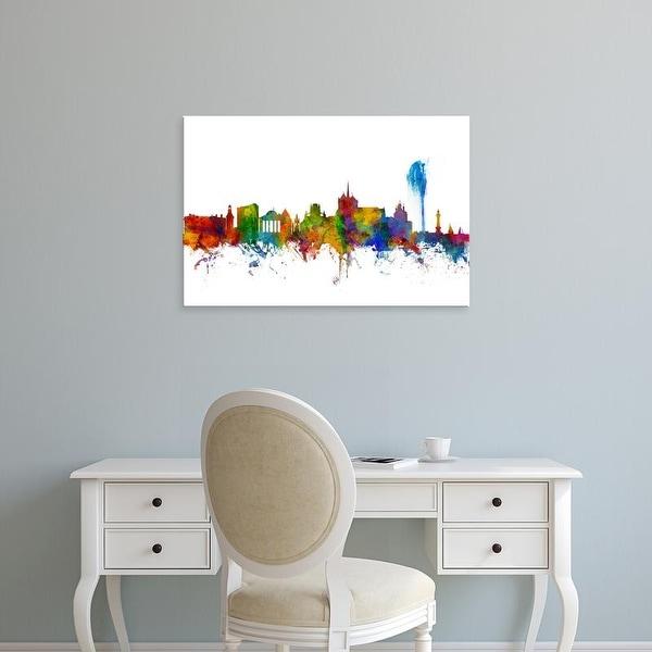 Easy Art Prints Michael Tompsett's 'Geneva Switzerland Skyline' Premium Canvas Art