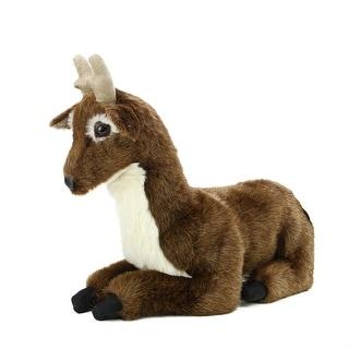 """20"""" Life-Like Extra Soft and Cuddly Plush Deer Stuffed Animal Hug - Brown"""