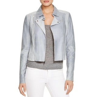 Paige Womens Cropped Jacket Leather Long Sleeves - s