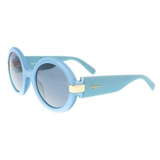 Salvatore Ferragamo SF778/S 402 Azure Round Sunglasses - 52-24-135