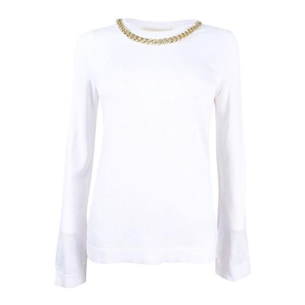 f401fc33dcf Shop MICHAEL Michael Kors Women s Petite Necklace Sweater (PS