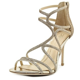 Vince Camuto Ranee Women Open-Toe Synthetic Gold Heels