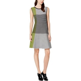 Vince Camuto Womens Casual Dress Colorblocked Sleeveless
