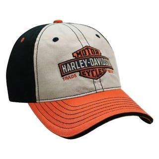 babeb290905 Harley-Davidson Men s Woven Long Bar   Shield Colorblocked Baseball Cap  BCC31266