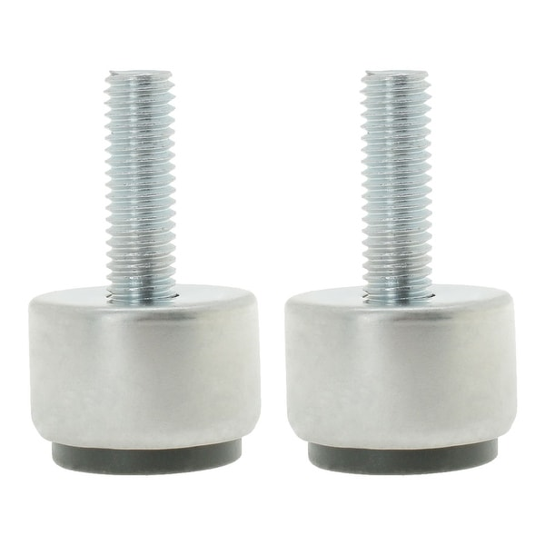 M8 x 25 x 25mm Furniture Leveling Feet Adjustable Leveler Floor Protector Round Base for Table Desk Leg 2pcs