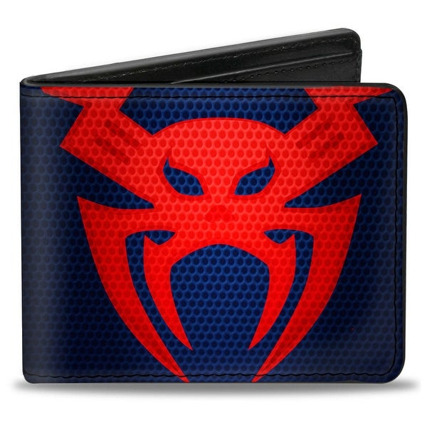 Ultimate Spider Man Spider Man 2009 Chest Spider Blues Reds Bi Fold Wallet - One Size Fits most