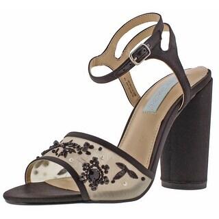 Blue Betsey Johnson Lana Women's Ankle Strap Sandals