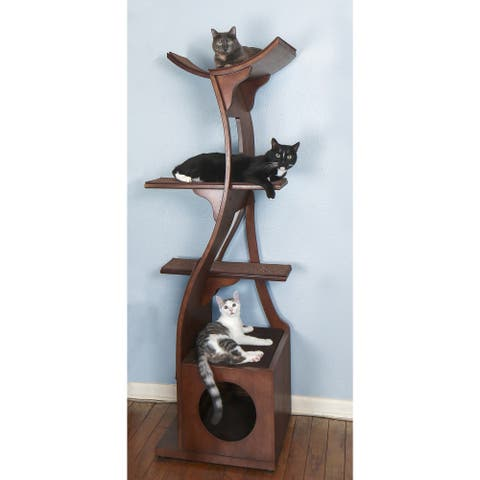 The Refined Feline's Lotus Color Cat Tower