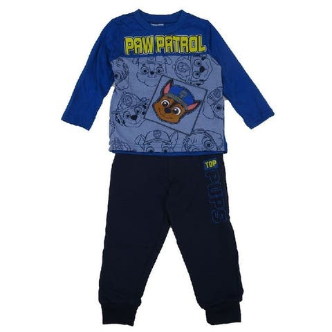 Nickelodeon Little Boys Royal Blue Paw Patrol Long Sleeve 2 Pc Outfit 2T-3T