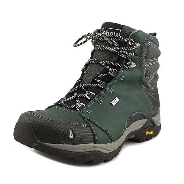 Ahnu Montara Boot Wp Women Round Toe Leather Green Hiking Boot
