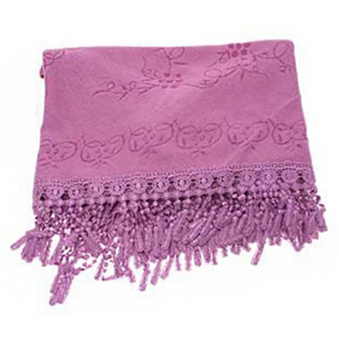 Inner Mongolia Shawl Embroidery Triangle Scarf - - Purple
