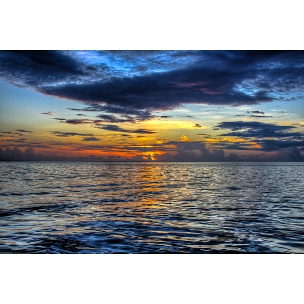 Sunset Over Ocean Photograph Art Print