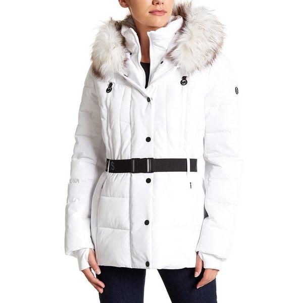 Michael Michael Kors White Down Puffer Coat