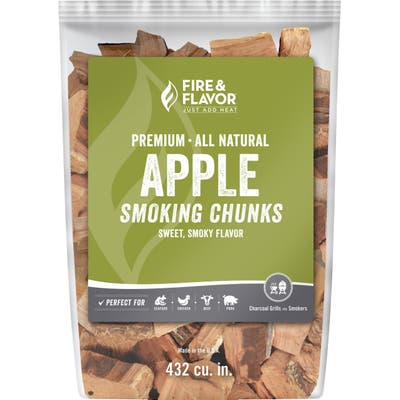 Fire & Flavor FFW203 Premium All Natural Smoking Wood Chunks, 4 Pounds, Apple