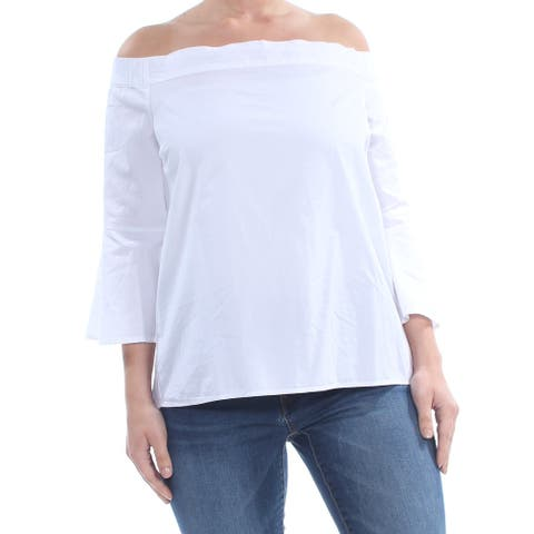 JESSICA SIMPSON Ivory 3/4 Sleeve T-Shirt Top L