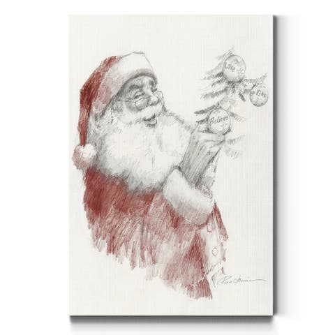 Santa's Touch-Premium Gallery Wrapped Canvas - Ready to Hang