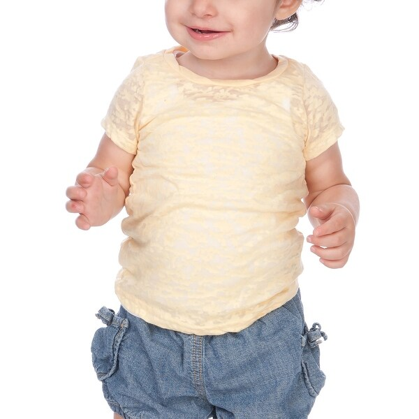 Kavio! Infants Burnout Twisted Crew Neck Short Sleeve Baby