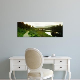 Easy Art Prints Panoramic Image 'Trees, Tarn Hows, Lake District National Park, Cumbria, England' Canvas Art