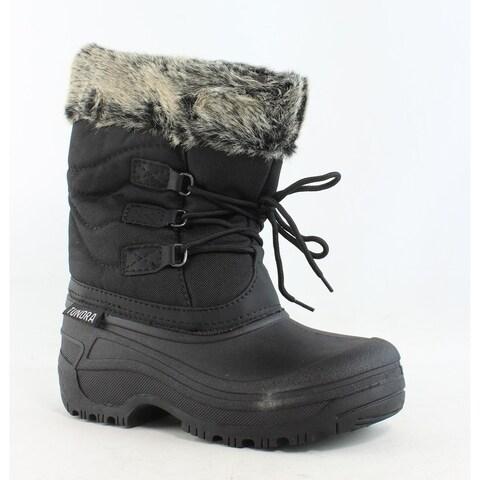 Tundra Womens Dot Black/Grey Snow Boots Size 5