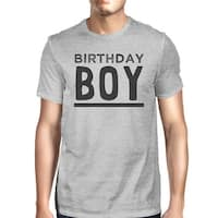 Birthday Boy Mens Grey Funny Graphic Tee Shirt For Graduation Gift