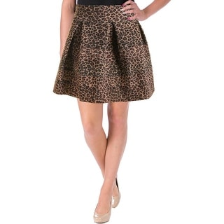 Aqua Womens Bandage Skirt Animal Print Pleated
