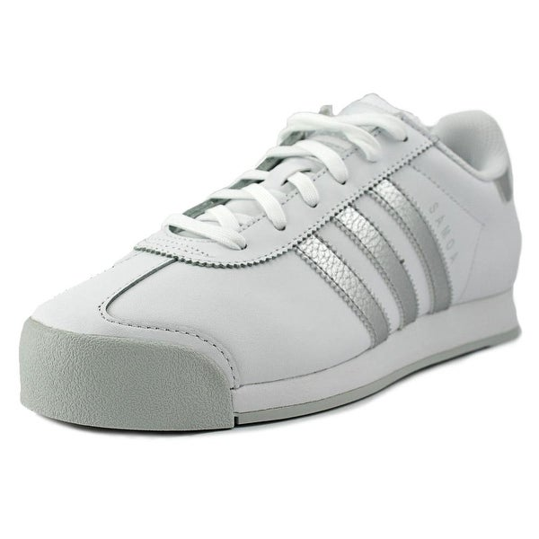 Adidas samoa Men Round Toe Leather White Sneakers
