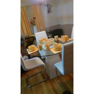 Furniture of America 'Athena' 5-piece High-Gloss Dining Set