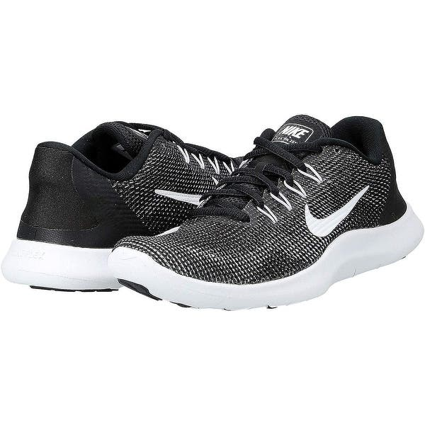 cinta Incompatible realidad  Nike Women's Flex RN 2018 Running Shoes - Overstock - 28820400 -  Black/White - 5