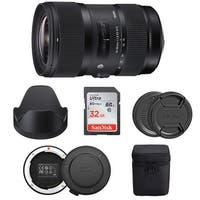 Sigma 18-35mm f/1.8 DC HSM Art Lens for Canon DSLR Cameras Bundle