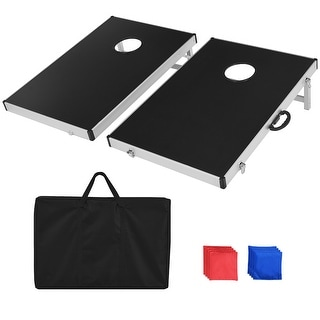 Link to Costway Foldable Bean Bag Toss Cornhole Game Set Tailgate Regulation Similar Items in Outdoor Play