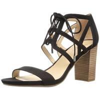 Franco Sarto Womens Jewel Suede Open Toe Casual Strappy Sandals