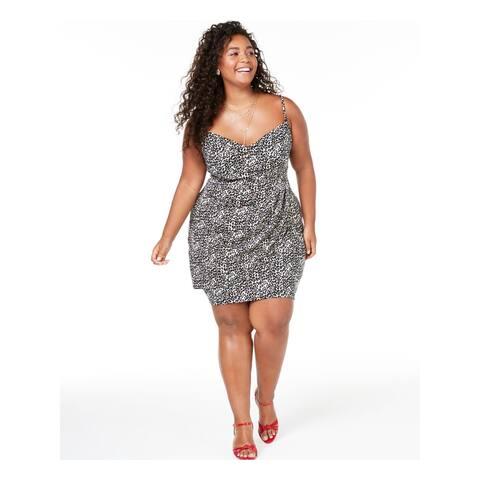 TEEZE ME Black Spaghetti Strap Short Dress 20/21