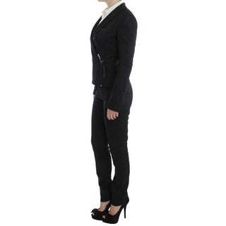 EXTE Gray Two Piece Suit Zipper Jacket Pants