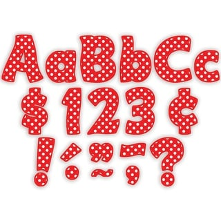 (3 Pk) Red Polka Dots Funtastic Font 4In Letters Combo Pk