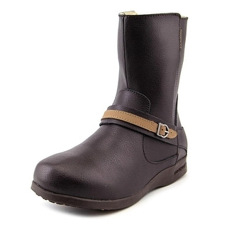 Pediped Flex Issa Youth Round Toe Leather Brown Mid Calf Boot