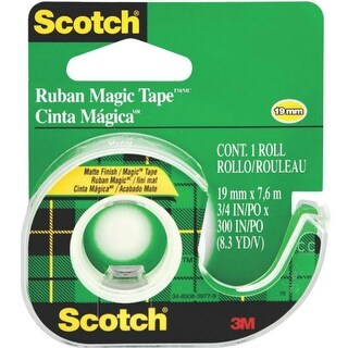 "Scotch 105 Magic Tape With Dispenser, 3/4"" x 300"""