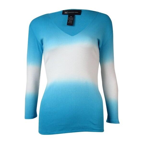 INC International Concepts Women's Gradient V-Neck Sweater