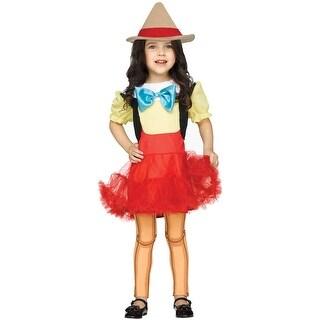 Fun World Wooden Girl Toddler Costume - Red/Yellow
