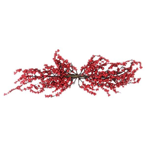 """31.5"""" Festive Artificial Red Berries Christmas Door Swag - Unlit"""